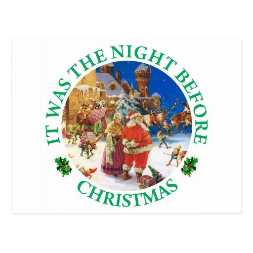 Det var natten för jul vykort