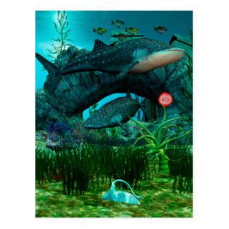 Det vatten- livet 3D för appell Vykort