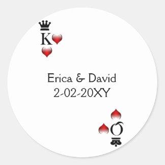 Det Vegas bröllopkuvertet förseglar Runda Klistermärken