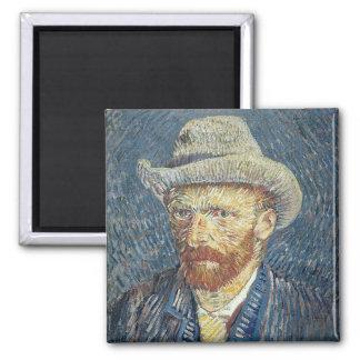 Det Vincent Van Gogh | självporträtt med klädde Magnet