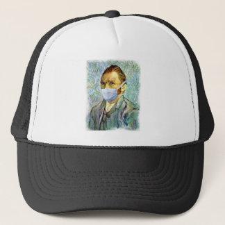 Det Vincent Van Gogh självporträtt med maskerar Truckerkeps