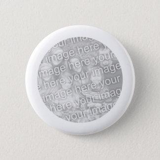 Det vit inramade rundafotoet knäppas standard knapp rund 5.7 cm