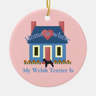 Det walesiska Terrierhemmet är Julgransprydnad Keramik