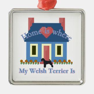 Det walesiska Terrierhemmet är Julgransprydnad Metall