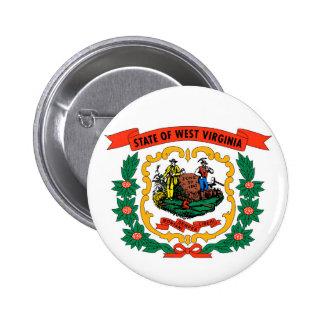 det West Virginia laget beväpnar statlig flagga Standard Knapp Rund 5.7 Cm