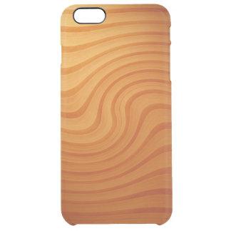 Det Wood gräset virvlar runt för plusfrikänden för Clear iPhone 6 Plus Skal