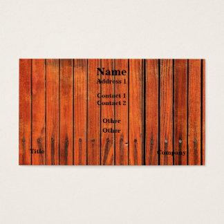 Det Wood staket avbildar visitkorten Visitkort