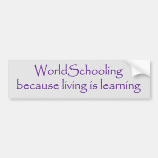 Det Worldschooling uppehället lärer bildekalet Bildekal