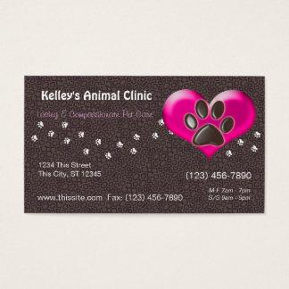 Det yrkesmässiga djur servar plockafärg för doktor visitkort