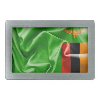 Det Zambia flaggabältet spänner fast
