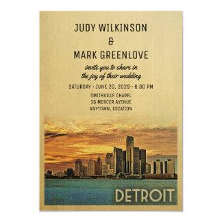Detroit bröllopinbjudan Michigan 12,7 X 17,8 Cm Inbjudningskort