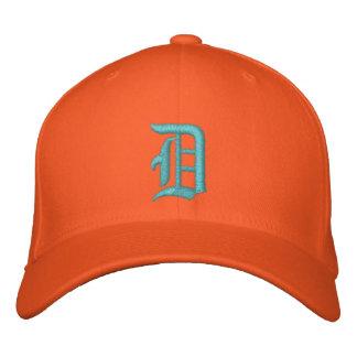 Detroit D hatt broderad turkos och orange
