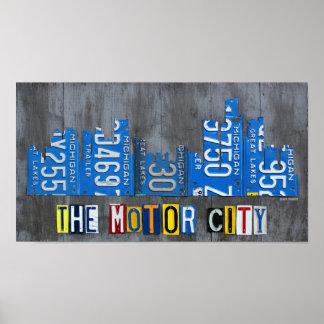 Detroit den motoriska konsten för poster
