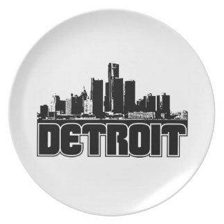 Detroit horisont tallrik