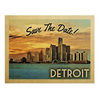 Detroit spara datera Michigan Vykort