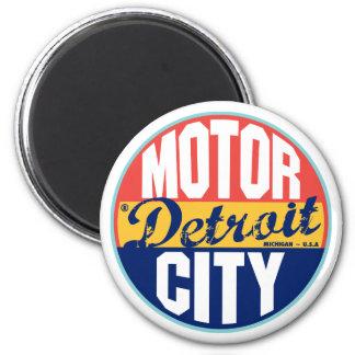 Detroit vintageetikett magnet