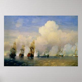 DetSvensk havskrig nära Kronstadt i 1790 Poster