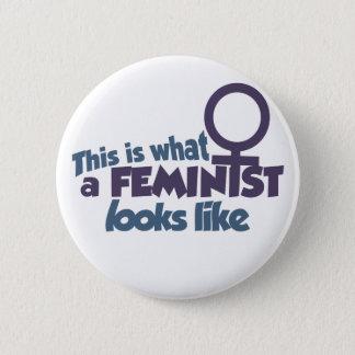Detta är en vilken feminist ser lik standard knapp rund 5.7 cm