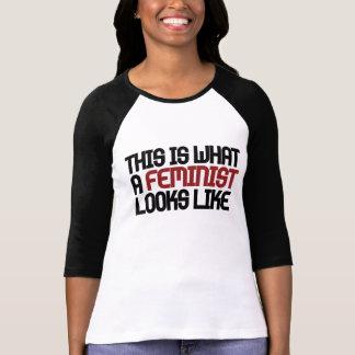 Detta är en vilken feminist ser lik tee shirt