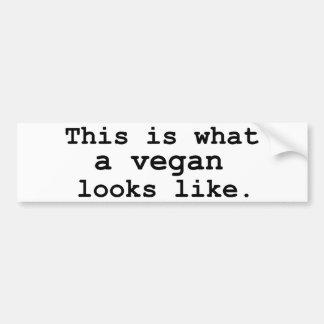 Detta är en vilken vegan ser som bildekal