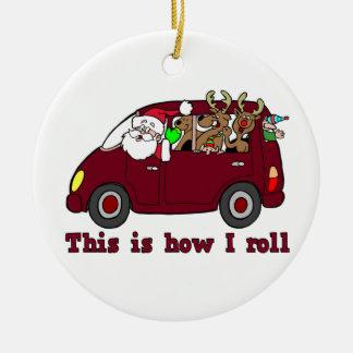 Detta är hur jag rullar den Santa prydnaden Rund Julgransprydnad I Keramik
