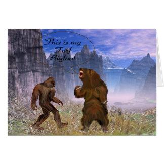 Detta är min torva Bigfoot och Hälsningskort