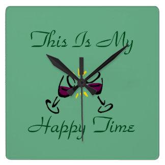 Detta är mitt lyckliga ställestämpelur fyrkantig klocka