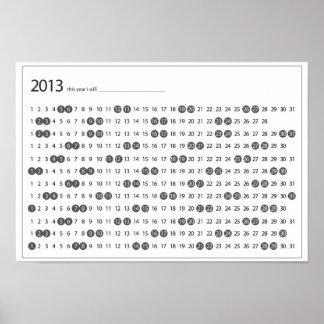 """""""Detta år ska jag… """"kalendern Poster"""