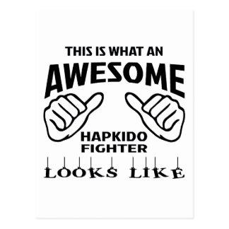 Detta är vilka looks för en fantastiskHapkido Vykort