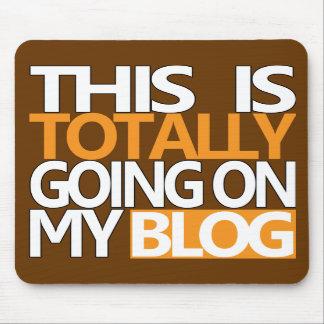 Detta går totalt på min bloggmus vadderar brunt musmattor