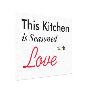 Detta kök kryddas med kärlekkanvastrycket canvastryck