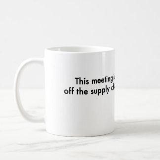 Detta möte är av tillförselen kedjar kaffemugg