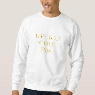 Detta passerar för guld- Fauxglitter för Sweatshirt