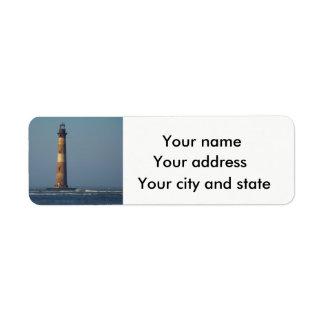 Detta tänder lite på den Morris ön Returadress Etikett