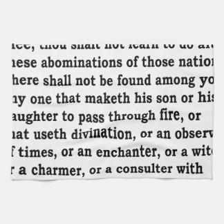 Deut. 18:9 - 12 kökshandduk