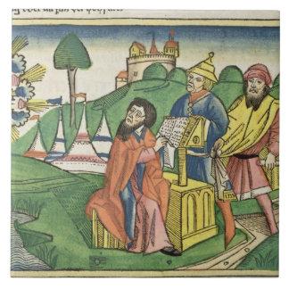 Deuteronomy: Frontispiece som guden gör i let Kakelplatta