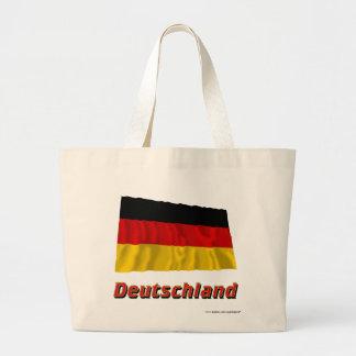 Deutschland Fliegende Flagge mit Namen Kasse
