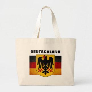 Deutschland för flagga för vintageGrungeTyskland f Tygkasse