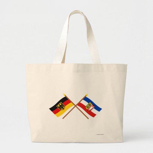 Deutschland & Schleswig-Holstein Flaggen, gekreuzt Tygkasse