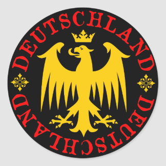 Deutschland tysk örnEmblem Runt Klistermärke