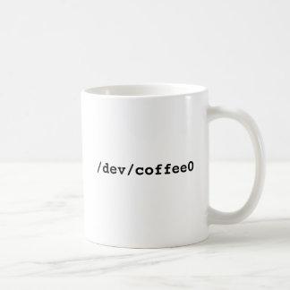 /dev/coffee0 Linuxmugg Kaffe Muggar