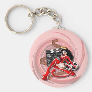 Devilish Starlett - Keychain Rund Nyckelring