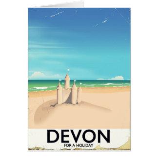 Devon England för en holiday. Hälsningskort