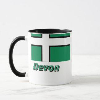 Devon flagga med namn