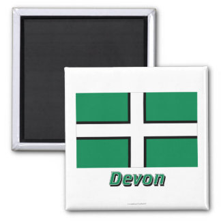 Devon flagga med namn kylskåpmagneter