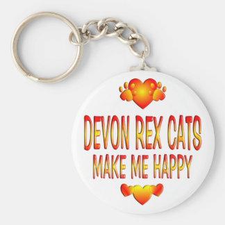Devon Rex katt Nyckelring