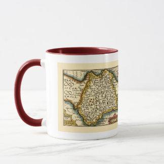 """""""Devonshire"""" Devon ståndsmässig karta, England"""