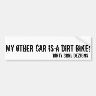 DGDS är min annan ritt en smutscykel! Bildekal