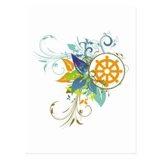 Dharma rullar blommigt vykort