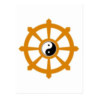 Dharma rullar den Yin Yang gåvan Vykort